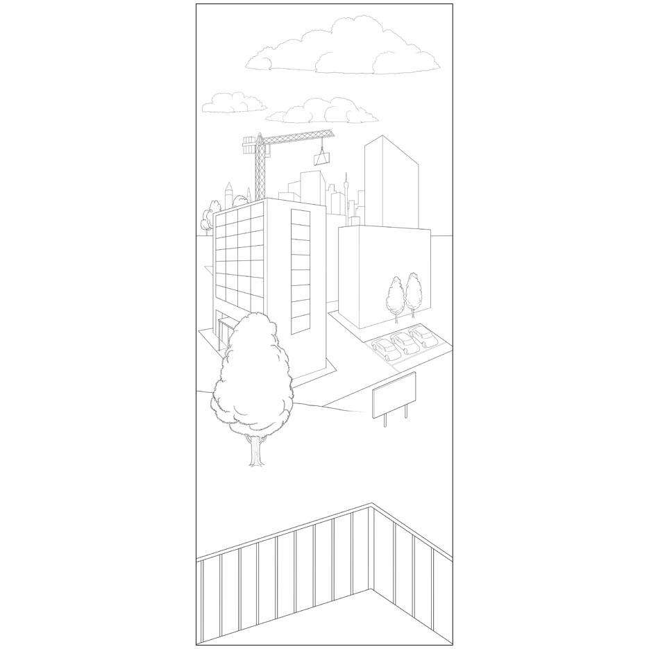tapete stadt dialogbild. Black Bedroom Furniture Sets. Home Design Ideas